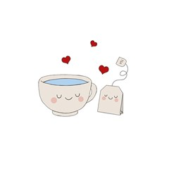 Cute Tea Shower Curtain 48  X 72  (small)  by Valentinaart
