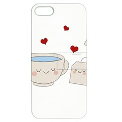 Cute Tea Apple Iphone 5 Hardshell Case With Stand