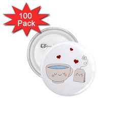 Cute Tea 1 75  Buttons (100 Pack)