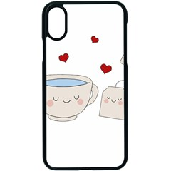 Cute Tea Apple Iphone X Seamless Case (black)
