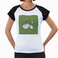 Cute Tea Women s Cap Sleeve T by Valentinaart