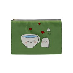 Cute Tea Cosmetic Bag (medium)  by Valentinaart