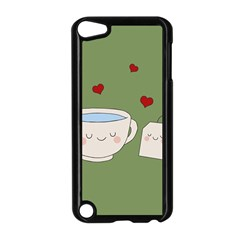 Cute Tea Apple Ipod Touch 5 Case (black) by Valentinaart