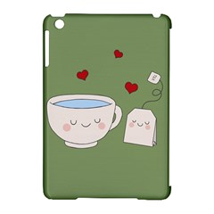 Cute Tea Apple Ipad Mini Hardshell Case (compatible With Smart Cover)