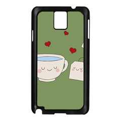 Cute Tea Samsung Galaxy Note 3 N9005 Case (black) by Valentinaart