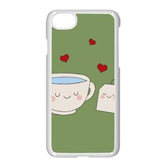 Cute Tea Apple Iphone 7 Seamless Case (white) by Valentinaart