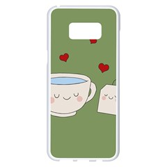 Cute Tea Samsung Galaxy S8 Plus White Seamless Case
