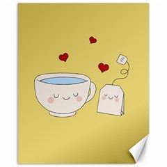 Cute Tea Canvas 16  X 20   by Valentinaart