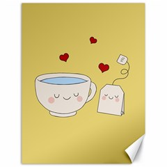 Cute Tea Canvas 18  X 24   by Valentinaart