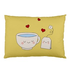 Cute Tea Pillow Case by Valentinaart