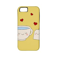 Cute Tea Apple Iphone 5 Classic Hardshell Case (pc+silicone) by Valentinaart