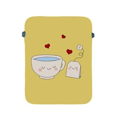 Cute Tea Apple Ipad 2/3/4 Protective Soft Cases by Valentinaart
