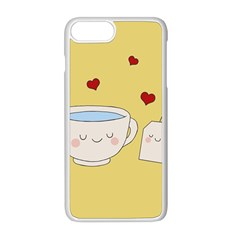 Cute Tea Apple Iphone 8 Plus Seamless Case (white) by Valentinaart
