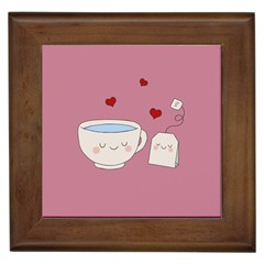 Cute Tea Framed Tiles by Valentinaart