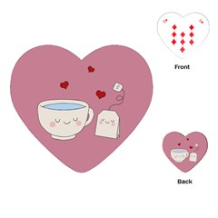 Cute Tea Playing Cards (heart)