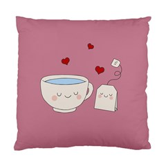 Cute Tea Standard Cushion Case (one Side) by Valentinaart