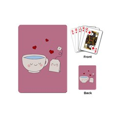 Cute Tea Playing Cards (mini)  by Valentinaart