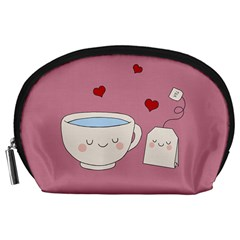 Cute Tea Accessory Pouches (large)  by Valentinaart