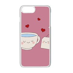 Cute Tea Apple Iphone 7 Plus Seamless Case (white) by Valentinaart