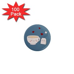 Cute Tea 1  Mini Magnets (100 Pack)