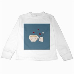 Cute Tea Kids Long Sleeve T Shirts