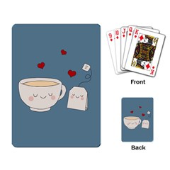 Cute Tea Playing Card by Valentinaart