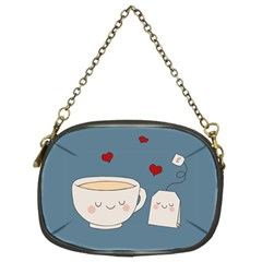 Cute Tea Chain Purses (two Sides)  by Valentinaart
