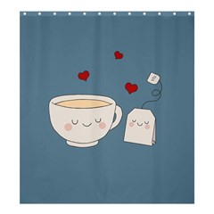 Cute Tea Shower Curtain 66  X 72  (large)  by Valentinaart