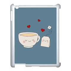Cute Tea Apple Ipad 3/4 Case (white)