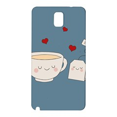 Cute Tea Samsung Galaxy Note 3 N9005 Hardshell Back Case by Valentinaart