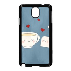 Cute Tea Samsung Galaxy Note 3 Neo Hardshell Case (black) by Valentinaart