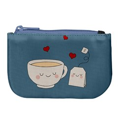 Cute Tea Large Coin Purse by Valentinaart