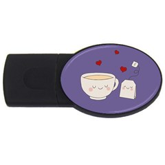 Cute Tea Usb Flash Drive Oval (2 Gb) by Valentinaart