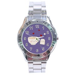 Cute Tea Stainless Steel Analogue Watch by Valentinaart