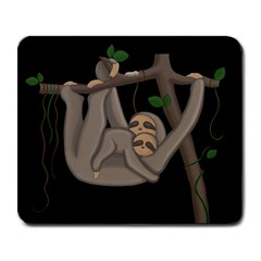 Cute Sloth Large Mousepads by Valentinaart