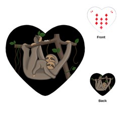 Cute Sloth Playing Cards (heart)