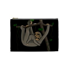 Cute Sloth Cosmetic Bag (medium)