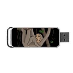 Cute Sloth Portable Usb Flash (two Sides) by Valentinaart