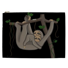 Cute Sloth Cosmetic Bag (xxl)  by Valentinaart