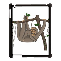 Cute Sloth Apple Ipad 3/4 Case (black)