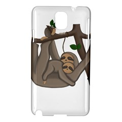 Cute Sloth Samsung Galaxy Note 3 N9005 Hardshell Case by Valentinaart