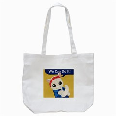 Feminist Cat Tote Bag (white) by Valentinaart