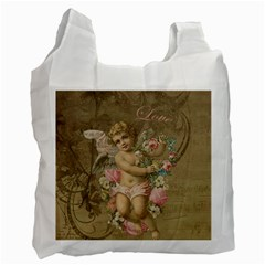 Cupid   Vintage Recycle Bag (two Side)  by Valentinaart
