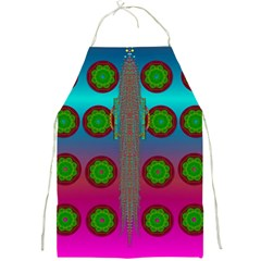 Meditative Abstract Temple Of Love And Meditation Full Print Aprons by pepitasart