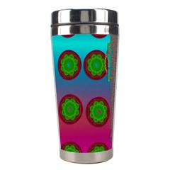 Meditative Abstract Temple Of Love And Meditation Stainless Steel Travel Tumblers