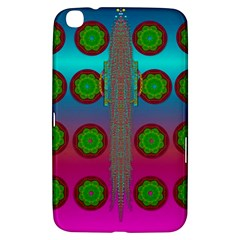 Meditative Abstract Temple Of Love And Meditation Samsung Galaxy Tab 3 (8 ) T3100 Hardshell Case  by pepitasart