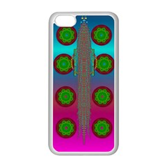 Meditative Abstract Temple Of Love And Meditation Apple Iphone 5c Seamless Case (white)