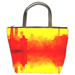 Sun Rise,city,modern Art Bucket Bags by 8fugoso