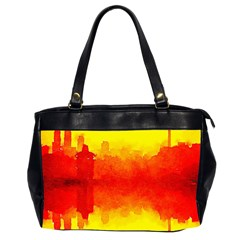Sun Rise,city,modern Art Office Handbags (2 Sides)  by 8fugoso