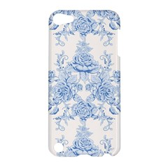 Beautiful,pale Blue,floral,shabby Chic,pattern Apple Ipod Touch 5 Hardshell Case by 8fugoso